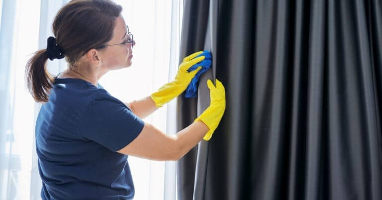how often should drapes be cleaned